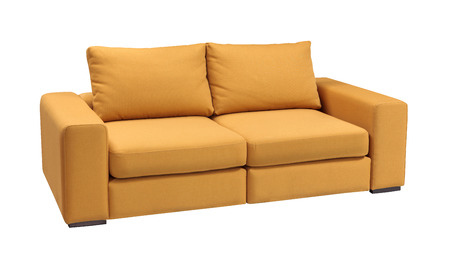 Upholstery sofa set with pillows isolated on white background with clipping path 写真素材
