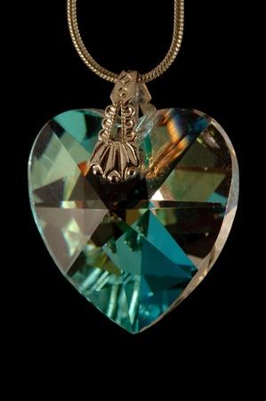 corazon cristal: Coraz�n de cristal Foto de archivo
