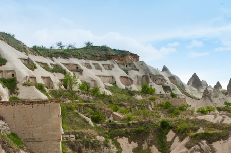 Pigeon houses - Rock formations in Cappadocia photo