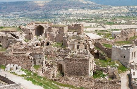 Uchisar - landscape view in Cappadocia, Turkey photo