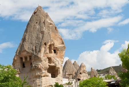 Uchisar, cappadocia  - Fairy chimneys photo