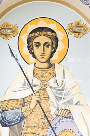 Wall Painting - Saint George - Church in Hissar, Bulgaria