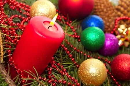 Christmas balls fir cones Stock Photo - 24214323