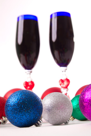 goblet, wine, spirits for Christmas Valentines Day photo