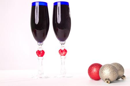 goblet, wine, spirits for Christmas photo