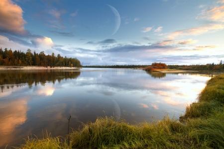 nature of Siberia and the Yamal Standard-Bild