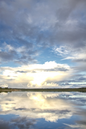 nature of Siberia and the Yamal Stock Photo