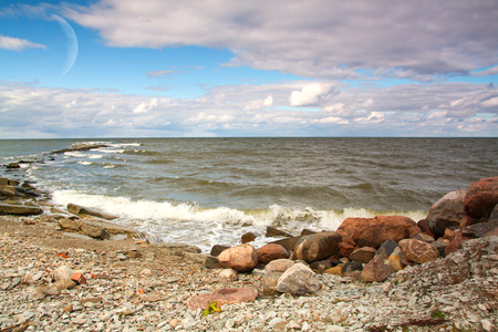 Baltic Sea Gulf of Finland in the autumn Stock Photo