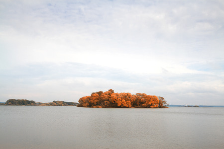 Islands in the autumn photo