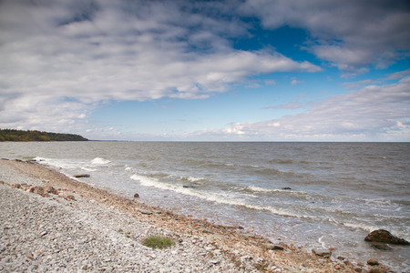 Baltic sea in autumn Stock Photo