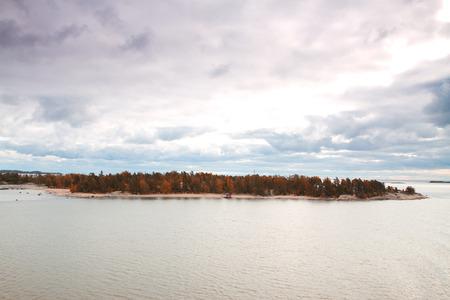 Island Helsinki in autumn photo