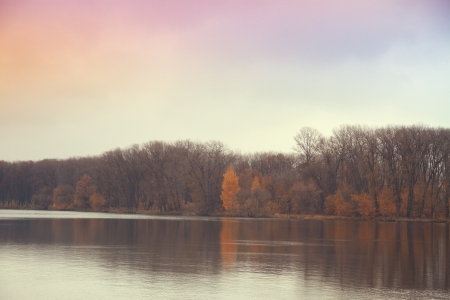 Late autumn at the river photo