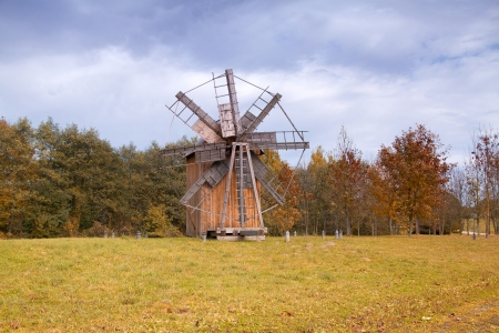 old wooden mill in the center of Europe photo