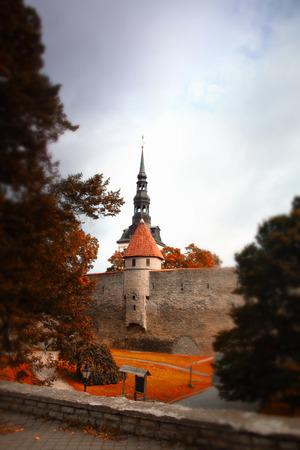 Tallinn autumn tilt-shift