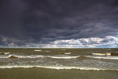 storm at sea Stock Photo