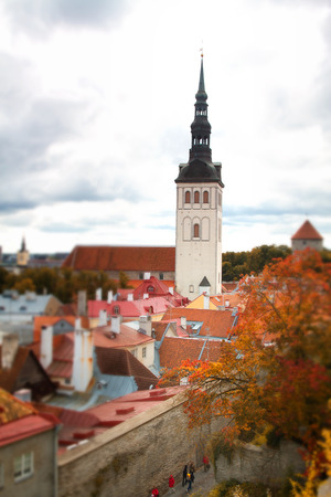Tallinn autumn tilt-shift photo