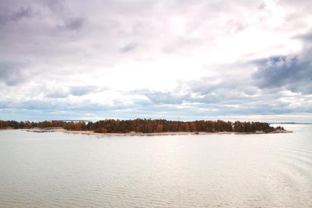 Insel Helsinki im Herbst Lizenzfreie Bilder