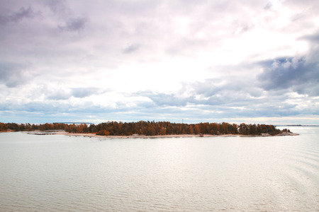 Island Helsinki in autumn