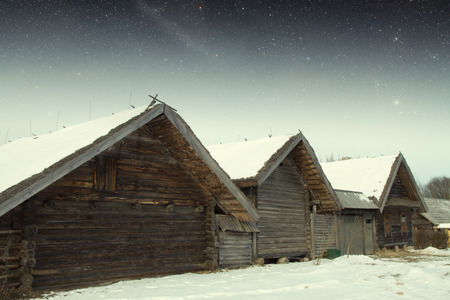 18th: authentic 18th century village in Russia. Elements of this image furnished by NASA