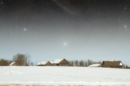 18th: authentic 18th century village in Russia. Stock Photo