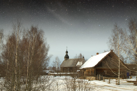 authentic 18th century village in Russia.  photo