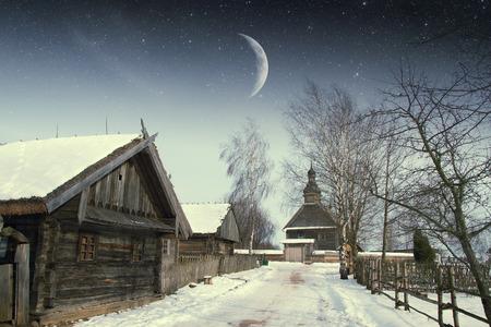 authentic 18th century village in Russia.  photo