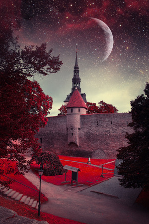 Tallinn mystical night. photo