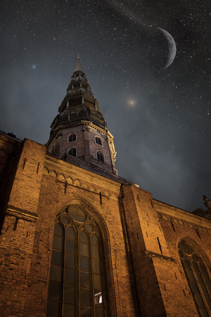 Riga at night. photo