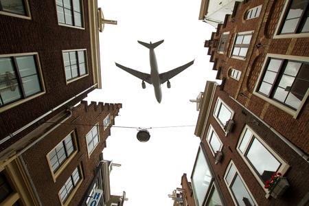plane over Amsterdam photo