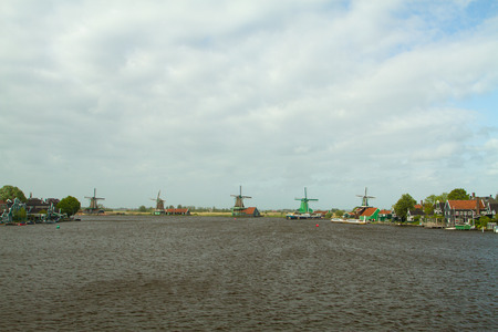 Traditional dutch windmills photo