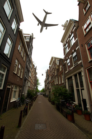 plane over Amsterdam photo