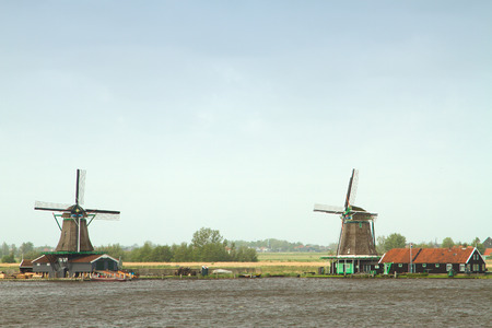 Traditional dutch windmills photo