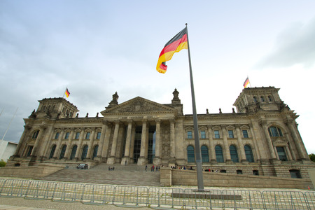 The Reichstag building is a historical edifice in Berlin. photo
