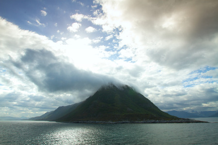 scenic landscapes of the northern Norwegian fjords.  photo
