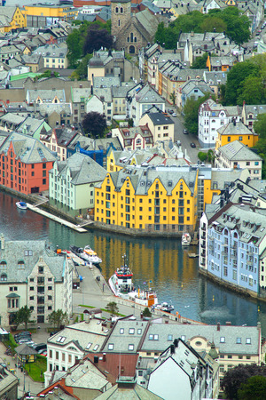 The Norwegian town of Aalesund. beautiful places in Europe. photo