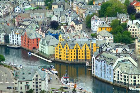 alesund: The Norwegian town of Aalesund. beautiful places in Europe.