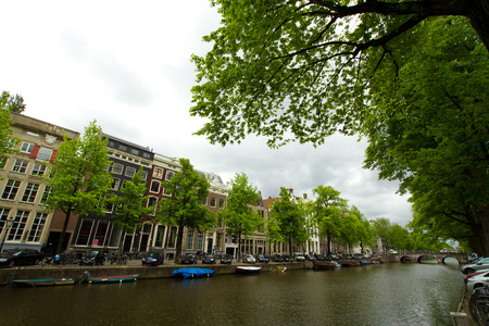 amstel river: Amsterdam. beautiful places in Europe