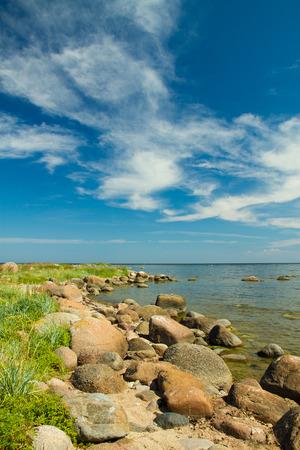 rocks into the sea. scenic spots in Europe Stock Photo