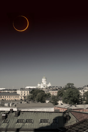 eclipse of the sun. picturesque and very beautiful HDR photos Helsinki.