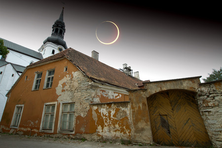 solar eclipse in Tallinn.