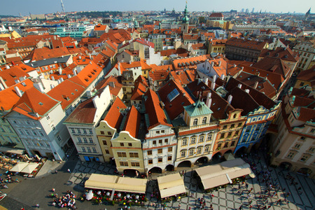 Most mystical and mysterious city in Europe. Prague through the eyes of birds photo