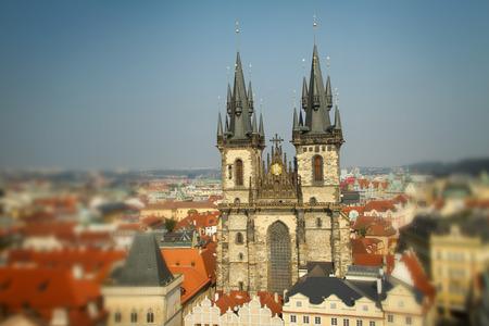 tynsky church: Tyn Church. stands in the center of the mystical samam Prague.