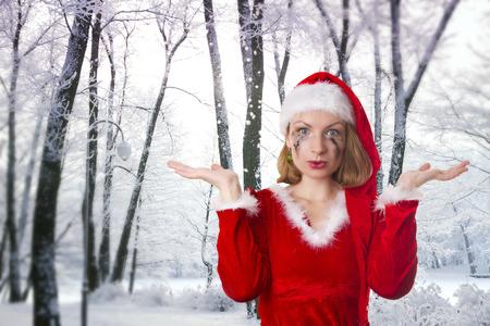 winter's tale: santa girl cries humor. Winters Tale
