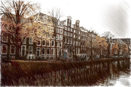 amsterdam canal: Amsterdam autumn. beautiful places in Europe