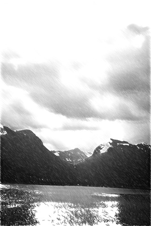 scenic: scenic landscapes of the northern Norwegian fjords.