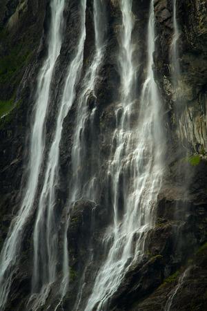 fjords: waterfalls northern Norwegian fjords.
