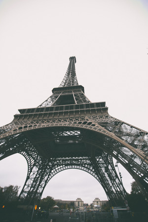 Vintage retro style. Window to Paris. Architecture of Paris .France. Europe