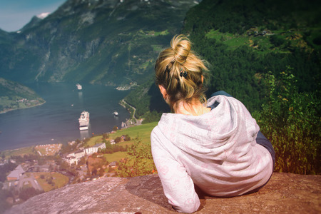 girl in the most beautiful place on Earth