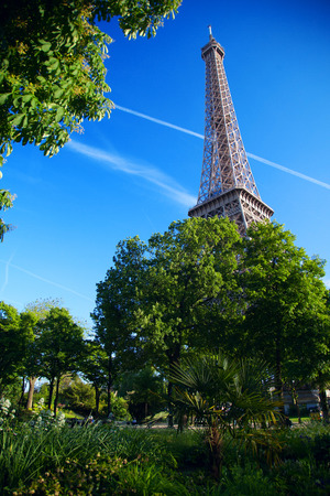 tower: Eiffel Tower symbol of Paris and throughout France.