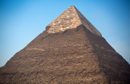 chephren: pyramids of the pharaohs in Giza. Cairo, Egypt